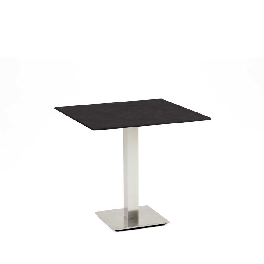 gartentisch niehoff bistrotisch 81x81 hpl granit design esstisch gartenm bel fachhandel. Black Bedroom Furniture Sets. Home Design Ideas