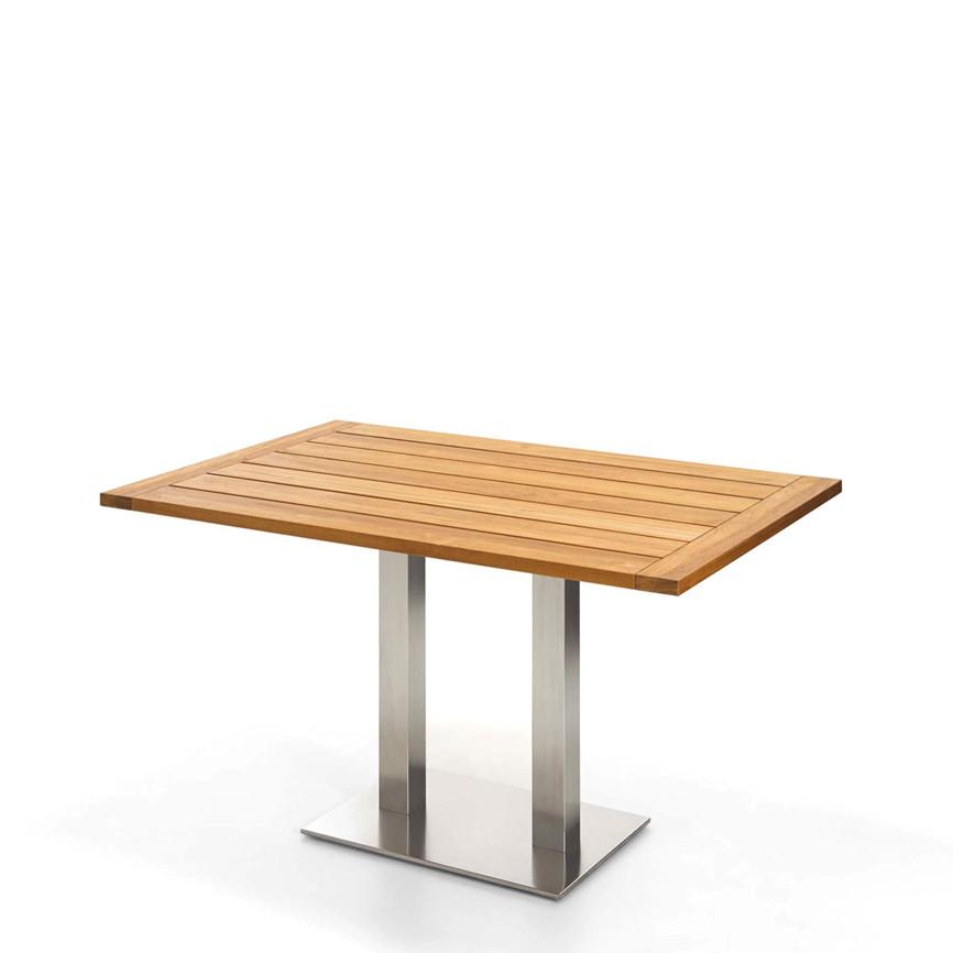 gartentisch niehoff bistrotisch 120x81 teak ge lt esstisch gartenm bel fachhandel. Black Bedroom Furniture Sets. Home Design Ideas