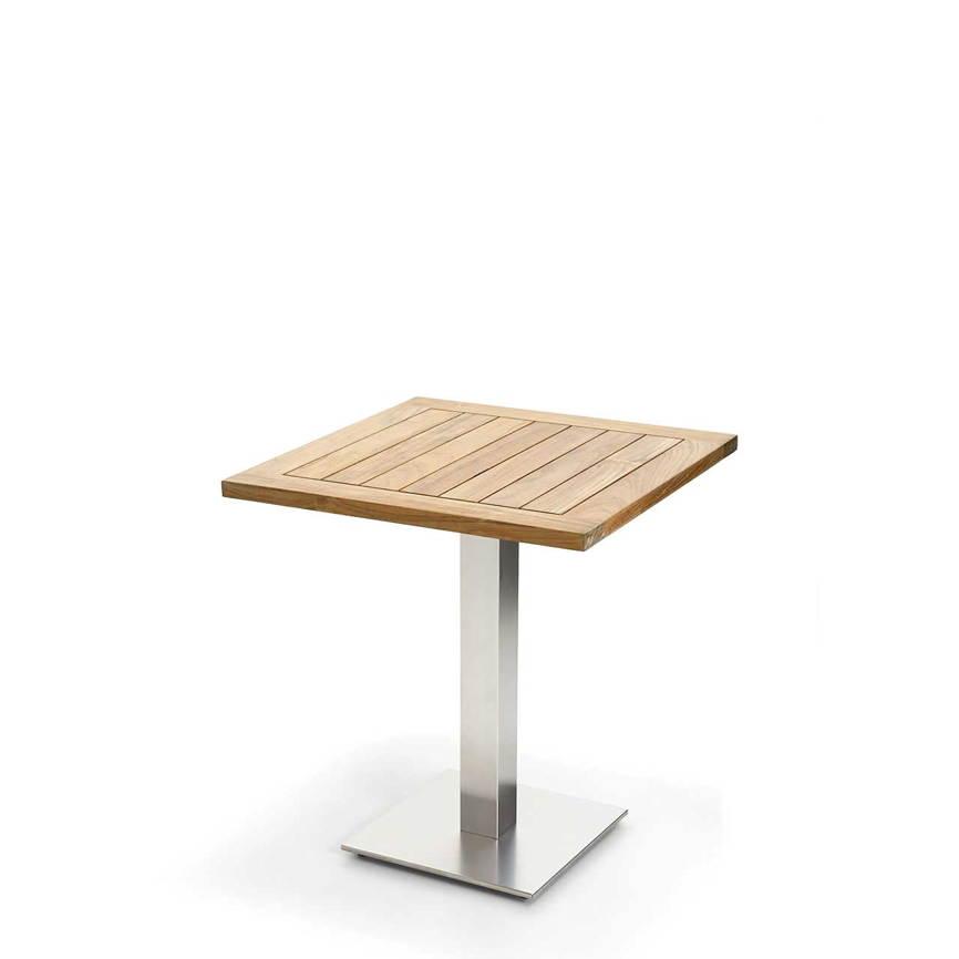 gartentisch niehoff bistrotisch 95x95 teak recycled. Black Bedroom Furniture Sets. Home Design Ideas