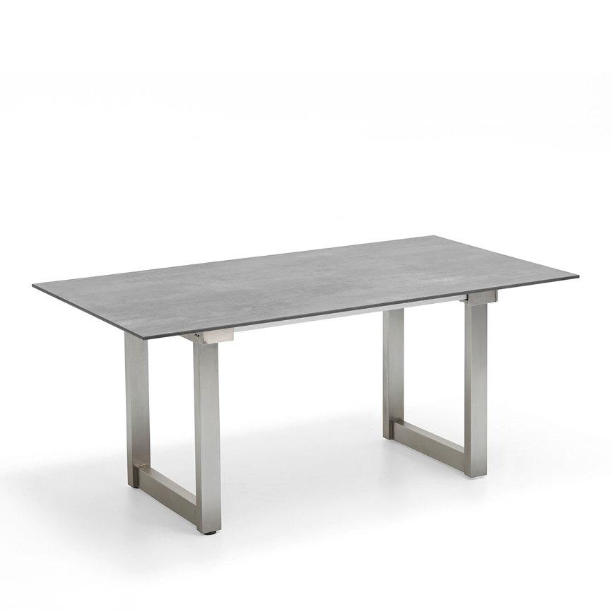 gartentisch niehoff nando ausziehtisch 200x95 hpl beton design esstisch gartenm bel fachhandel. Black Bedroom Furniture Sets. Home Design Ideas