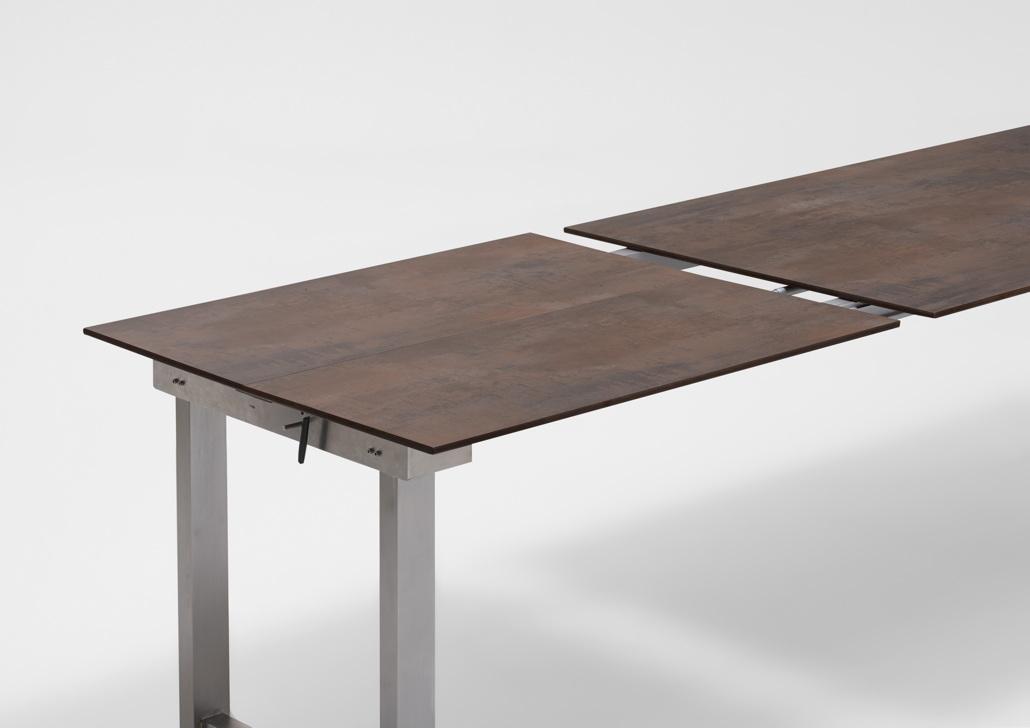 gartentisch niehoff nando ausziehtisch 200x95 hpl granit design esstisch gartenm bel fachhandel. Black Bedroom Furniture Sets. Home Design Ideas
