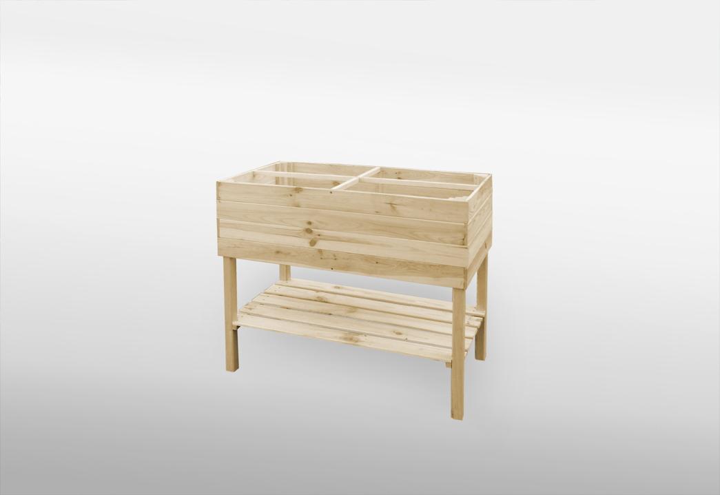 hochbeet promadino hochbeet mit beinen natur holzbeet vom spielger te fachh ndler. Black Bedroom Furniture Sets. Home Design Ideas