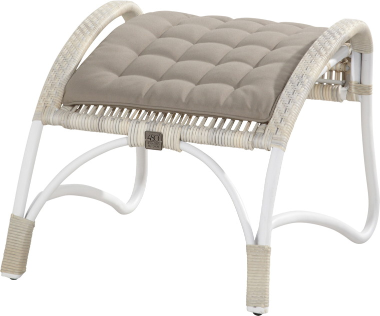 hocker olivia fu auflage rattan geflecht korbhocker. Black Bedroom Furniture Sets. Home Design Ideas