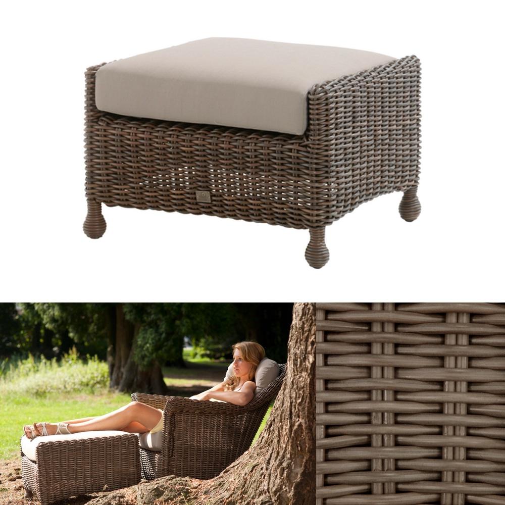 hocker 4seasons madoera fu auflage polyrattan premium geflechthocker gartenm bel fachhandel. Black Bedroom Furniture Sets. Home Design Ideas