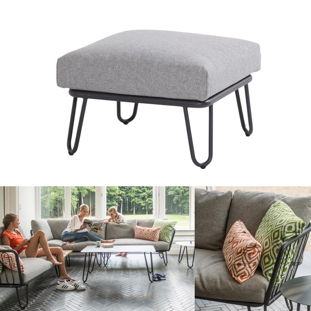 hocker 4seasons premium fu auflage aluminium mit kissen gartenm bel fachhandel. Black Bedroom Furniture Sets. Home Design Ideas