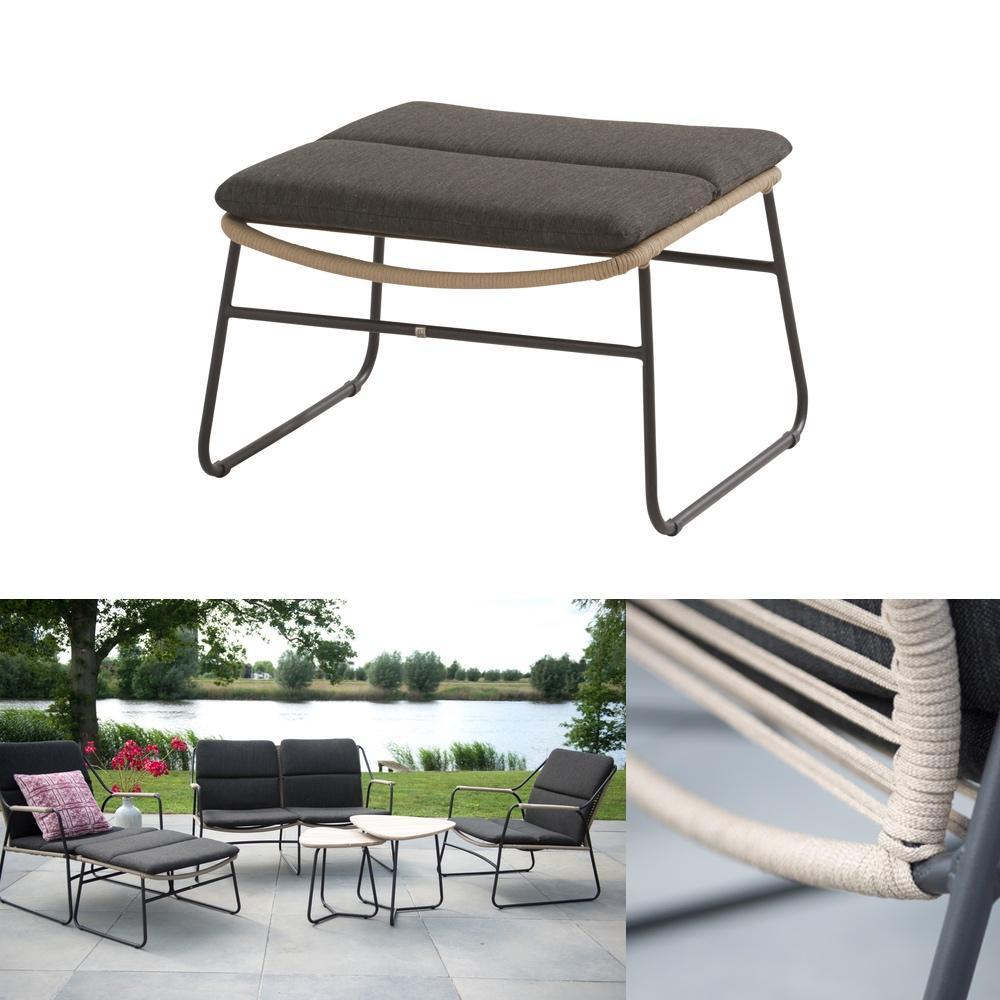 hocker 4seasons scandic fu auflage geflechthocker mit. Black Bedroom Furniture Sets. Home Design Ideas