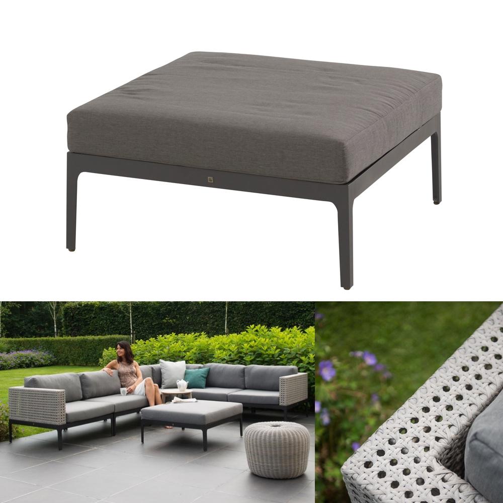 hocker 4seasons triana fu auflage geflecht mit kissen gartenm bel fachhandel. Black Bedroom Furniture Sets. Home Design Ideas