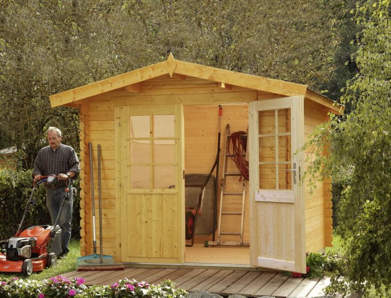 gartenhaus 240x200cm bausatz holzhaus mit doppelt r holz. Black Bedroom Furniture Sets. Home Design Ideas