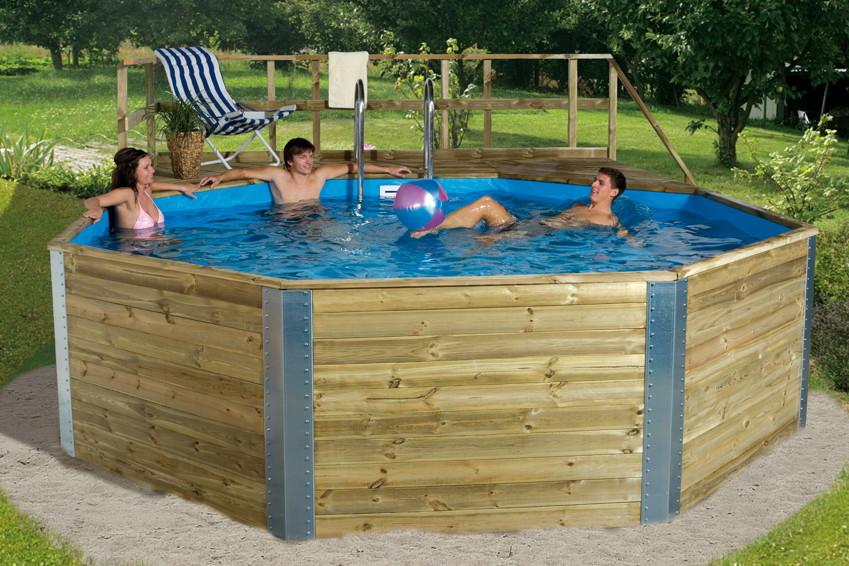 Swimmingpool holz  Holzpool WEKA Kreta - Schwimmbecken aus Holz, Swimmingpool ...