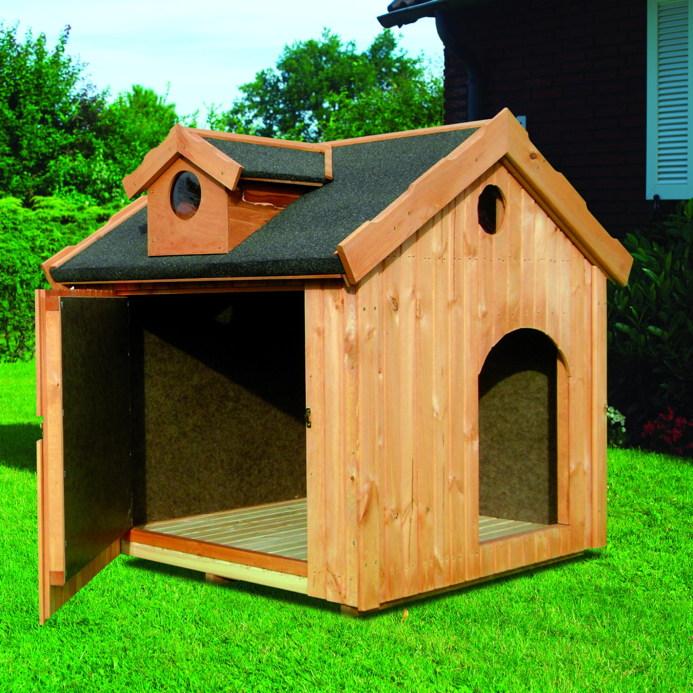 holz hundeh tte promadino max hundehaus ged mmte hundeh tte vom garten fachh ndler. Black Bedroom Furniture Sets. Home Design Ideas