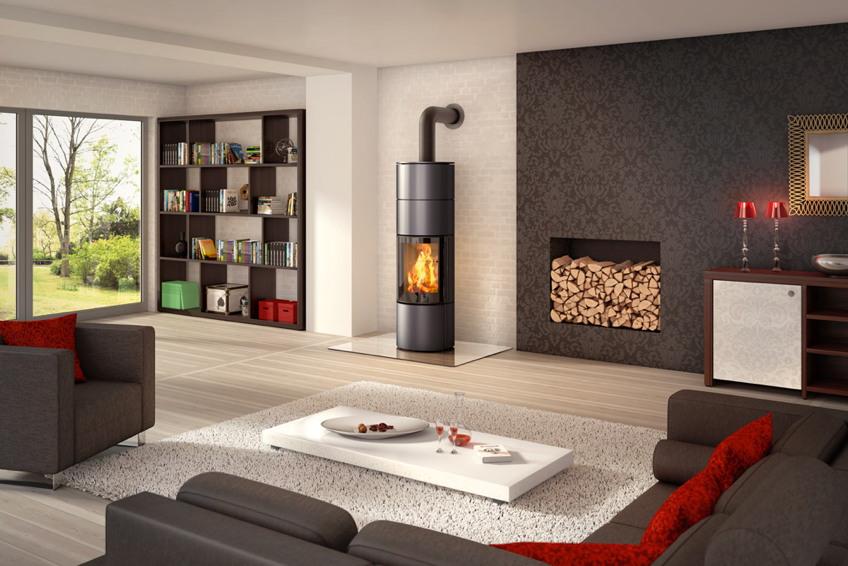 kamin ofen spartherm ambiente a4 standkamin stahlkamin gro e glasscheibe kamin fen f r. Black Bedroom Furniture Sets. Home Design Ideas