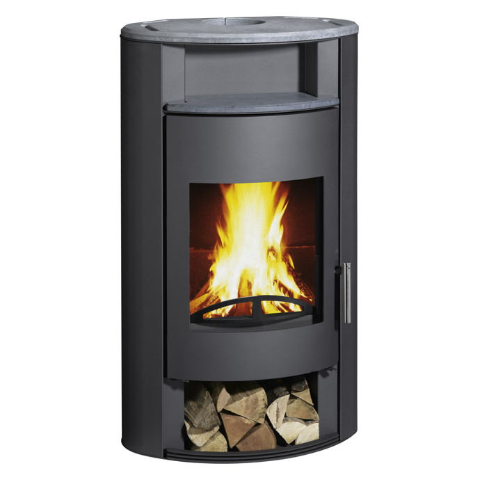kaminofen wamsler delta 8kw grau automatikkamin stahlkamin thermoautomatik kamin fen f r. Black Bedroom Furniture Sets. Home Design Ideas