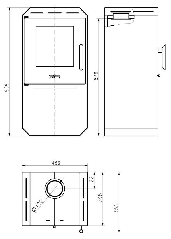 kamin ofen wamsler mono 6 0 kw standkamin mit holzlagerfach kleiner brennraum ebay. Black Bedroom Furniture Sets. Home Design Ideas