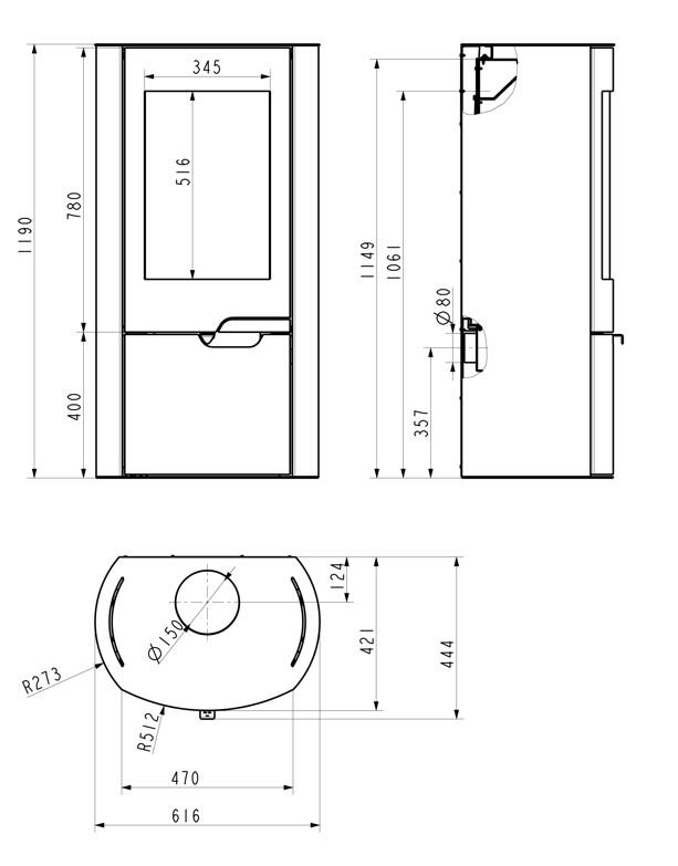 kamin ofen wamsler saphir 8 0 kw automatikkamin mit thermoautomatik 4025144113030 ebay. Black Bedroom Furniture Sets. Home Design Ideas