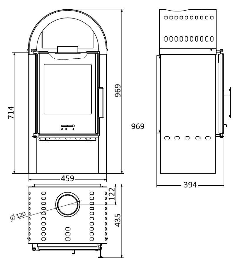 kamin ofen wamsler mono schwarz 6 0 kw standkamin mit. Black Bedroom Furniture Sets. Home Design Ideas