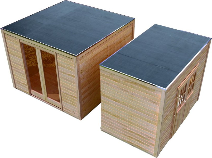 gartenhaus karibu cubus holz haus bausatz ebay. Black Bedroom Furniture Sets. Home Design Ideas