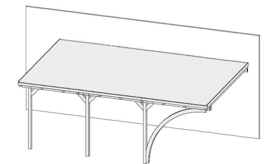 carports aus holz g nstig kaufen im shop von holz. Black Bedroom Furniture Sets. Home Design Ideas