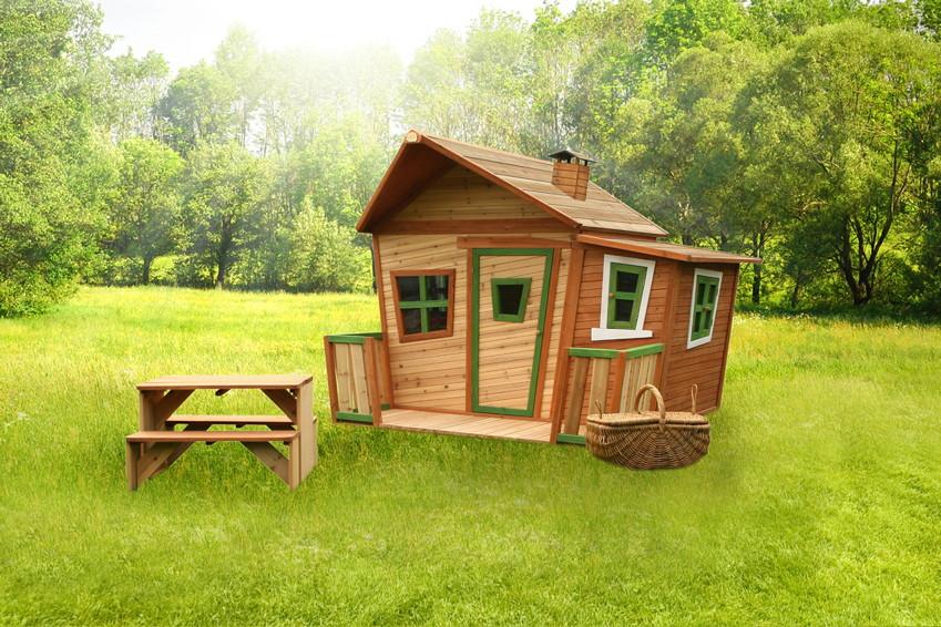 kinder spielhaus holz axi lisa comic kinderspielhaus ebay. Black Bedroom Furniture Sets. Home Design Ideas
