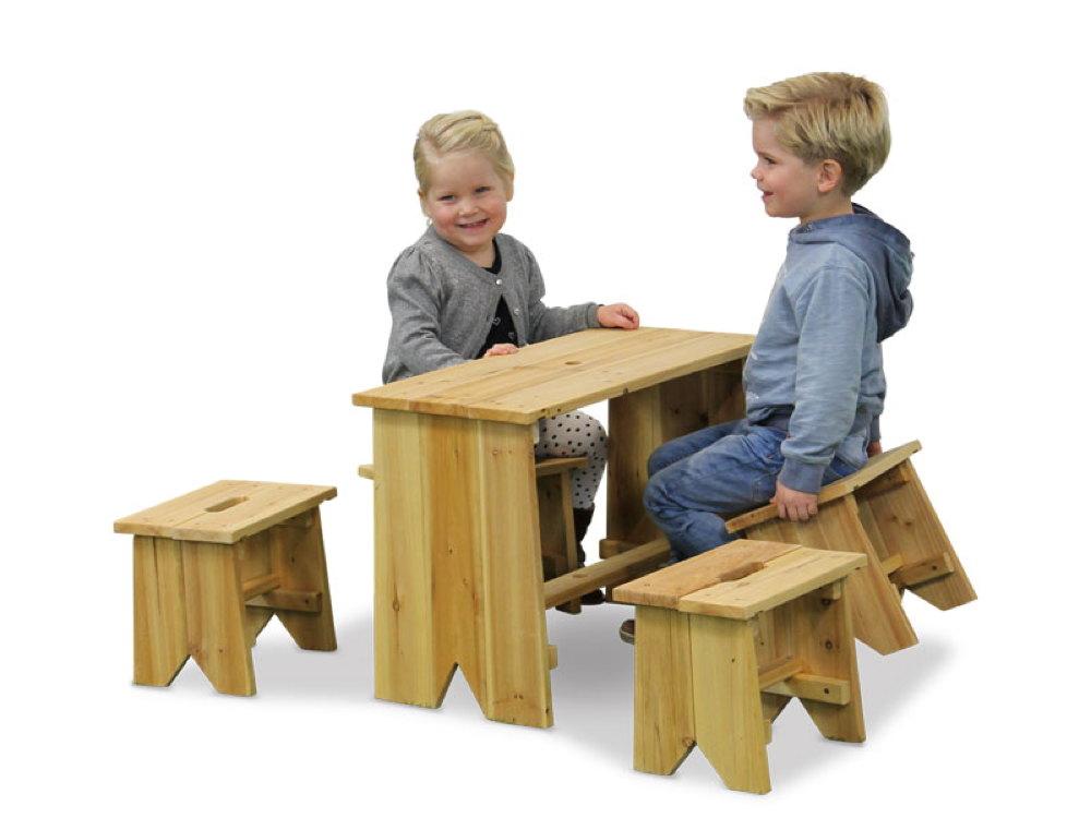 kinder gartenbank picknick set gr e xl exit sitzgruppe kinderbank ebay. Black Bedroom Furniture Sets. Home Design Ideas