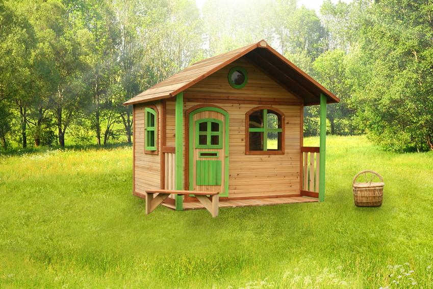 kinder holz spielhaus classic 170cm breit kinderspielhaus veranda terrasse garten blog haus. Black Bedroom Furniture Sets. Home Design Ideas