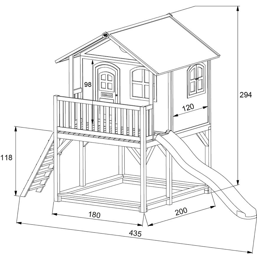 Relativ Kinder-Holz-Spielhaus groß & hoch Comic Kinderspielhaus auf DS67
