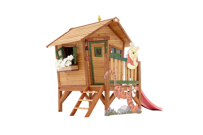 Holz-Kinder-Spielhaus Axi «Winnie the Pooh» Kinderspielhaus Comic-Stelzenhaus
