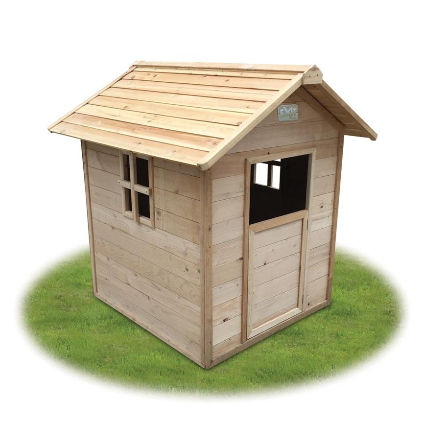 kinder spielhaus exit ibiza kinderspielhaus holzhaus natur kinderspielger te f r den garten. Black Bedroom Furniture Sets. Home Design Ideas