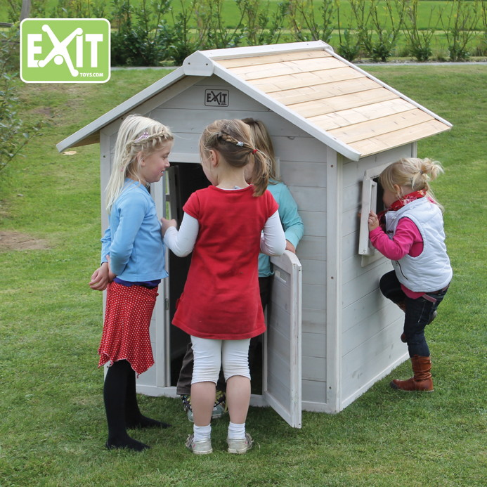 kinder spielhaus exit beach 100 kinderspielhaus holzhaus grau spielhaus kinderhaus. Black Bedroom Furniture Sets. Home Design Ideas