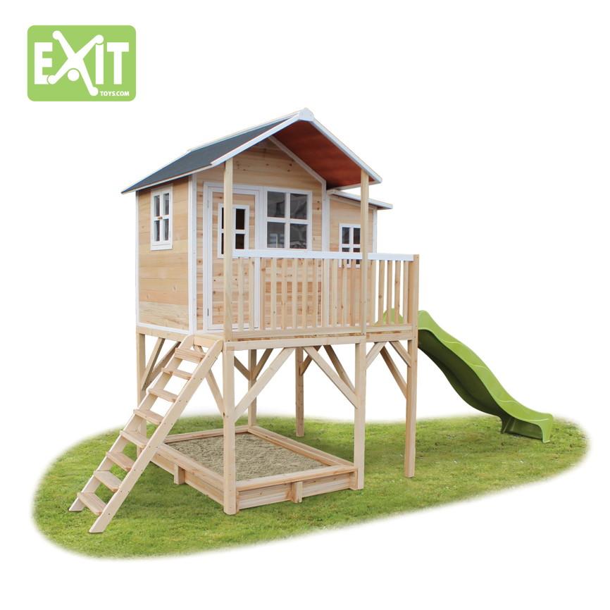 holz kinder spielhaus stelzen kinderspielhaus stelzenhaus natur rutsche sandk ebay. Black Bedroom Furniture Sets. Home Design Ideas