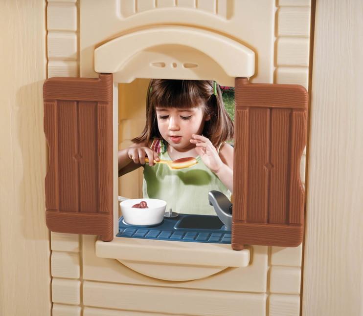 kinder spielhaus step 2 traumhaus kinderhaus kunststoff vom garten fachh ndler. Black Bedroom Furniture Sets. Home Design Ideas