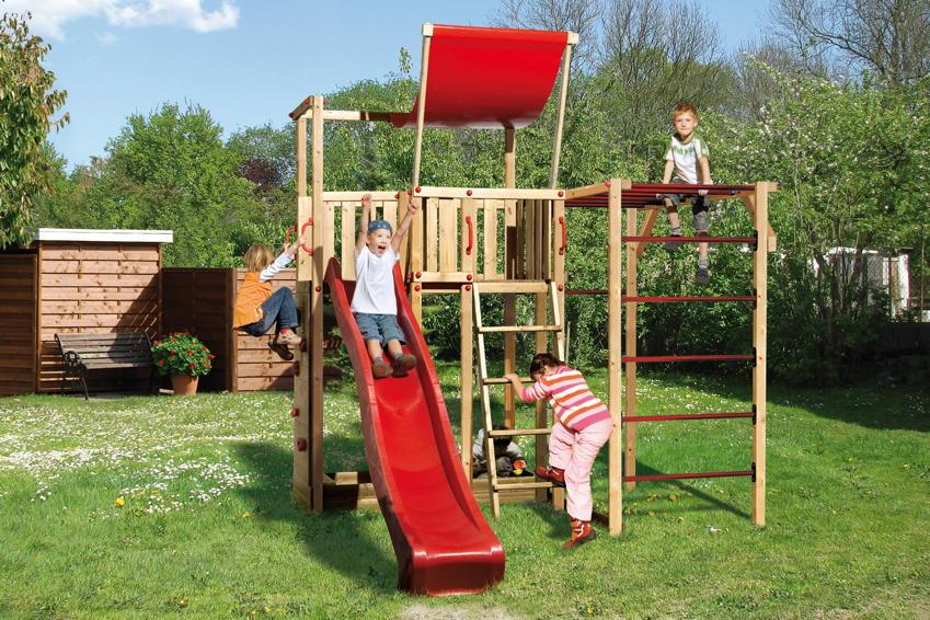 Spielturm WEKA  «Spielturm 816 C» Spielhaus aus Holz mit Rutsche