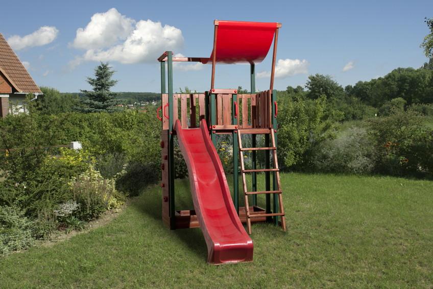 Spielturm WEKA  «Kinderspielturm 816 B» Set Holz-Spielhaus inkl. Rutsche