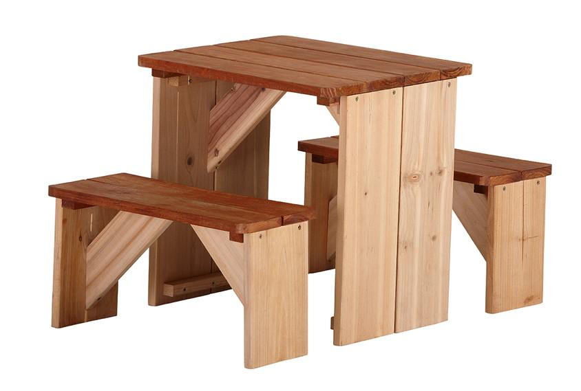 kinder picknickbank axi zidzed kinderbank holz sitzgruppe kinderspielger te f r den garten. Black Bedroom Furniture Sets. Home Design Ideas