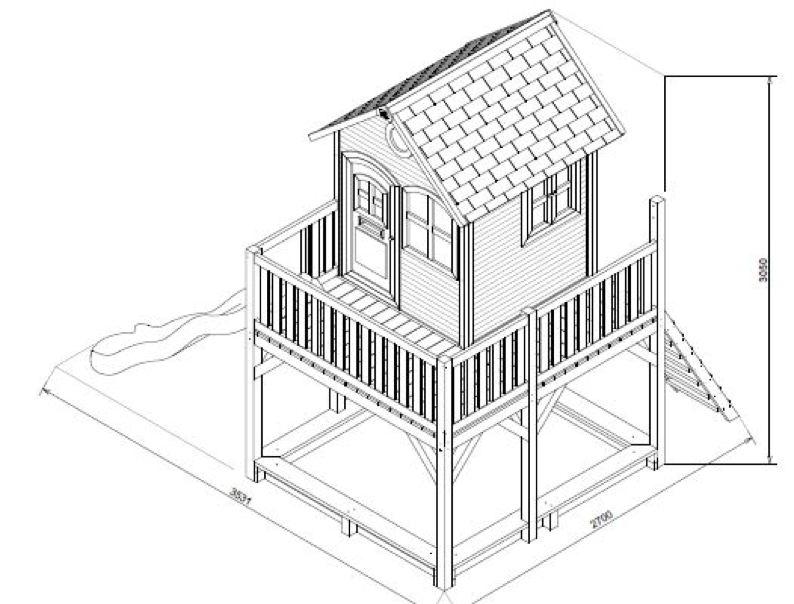 kinder holz spielhaus axi liam kinderspielhaus auf. Black Bedroom Furniture Sets. Home Design Ideas