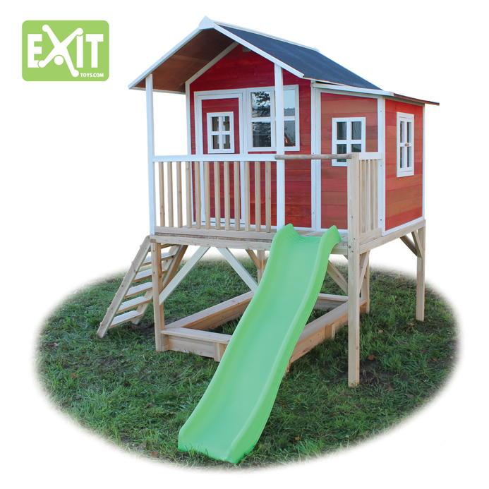 kinder spielhaus gro es stelzen kinderspielhaus holz natur rutsche sandkiste vom spielger te. Black Bedroom Furniture Sets. Home Design Ideas