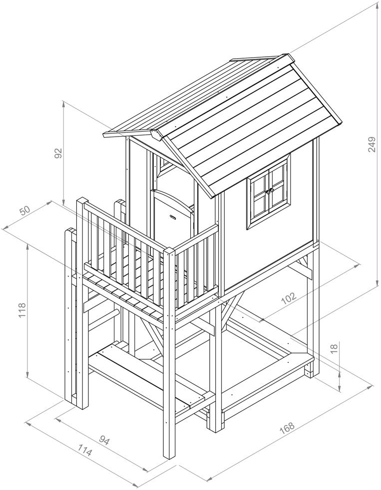 kinder spielhaus beachstyle lodge xxl plus rot. Black Bedroom Furniture Sets. Home Design Ideas