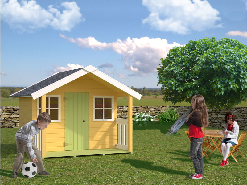 Kinder spielhaus tree chambers kids ida kinderspielhaus for Casas para jardin infantil