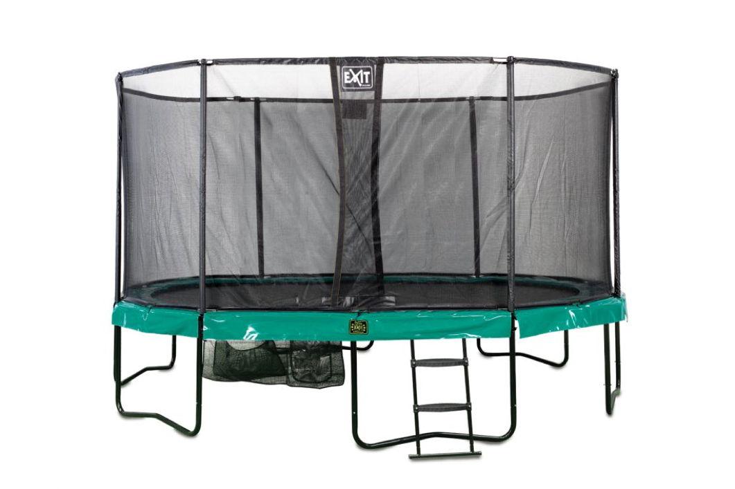 kinder trampolin exit supreme all in one 457cm trampolin mit sicherheitsnetz holz angebot. Black Bedroom Furniture Sets. Home Design Ideas