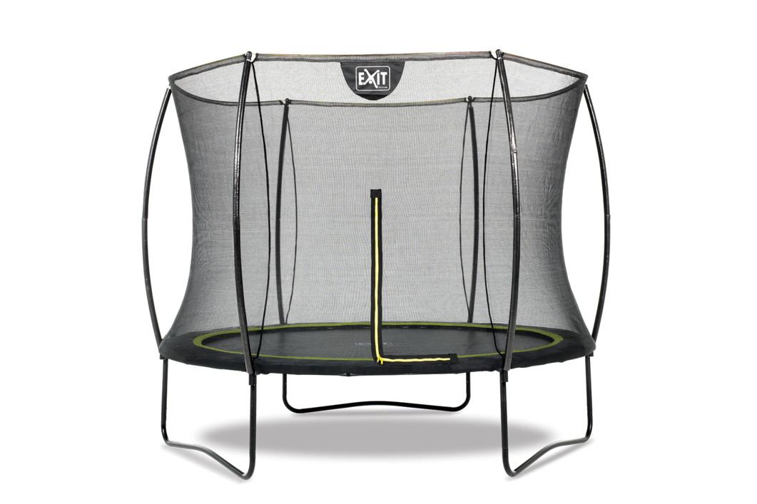 kinder trampolin exit silhouette 244cm garten trampolin mit sicherheitsnetz. Black Bedroom Furniture Sets. Home Design Ideas