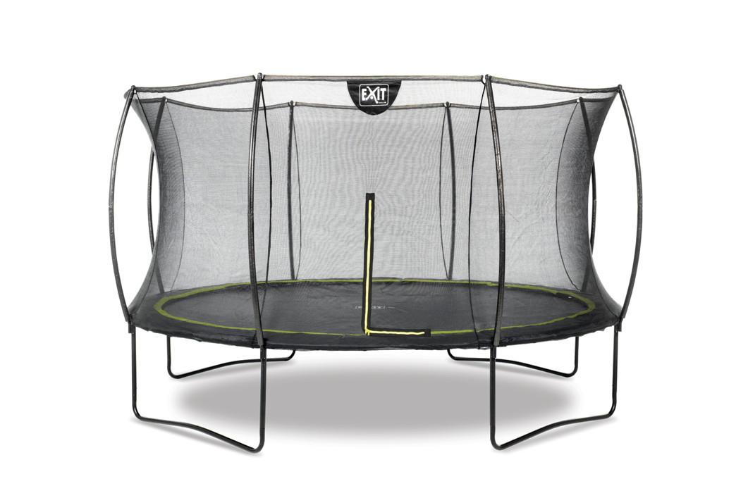 kinder trampolin exit silhouette 366cm garten trampolin mit sicherheitsnetz holz angebot. Black Bedroom Furniture Sets. Home Design Ideas