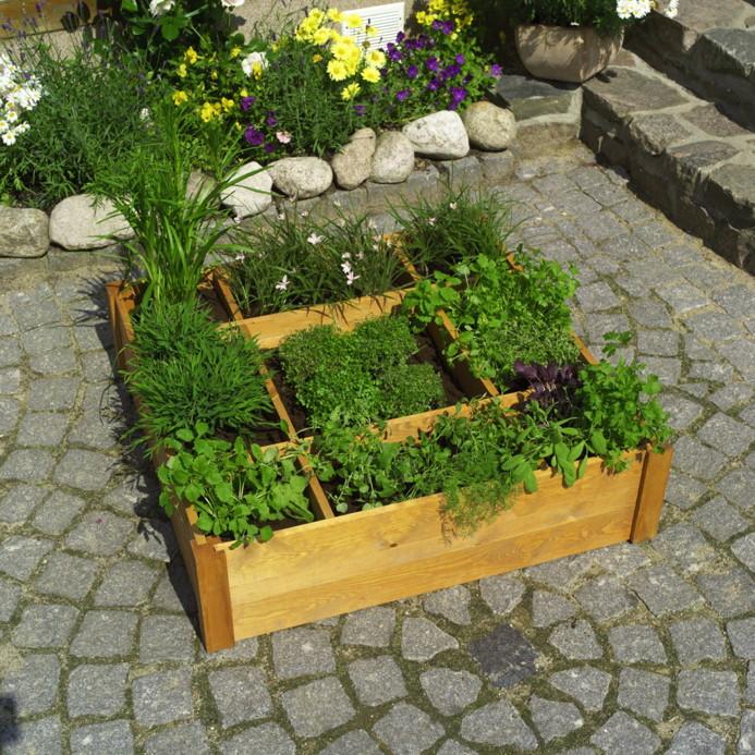 beet holzumrandung promadino anpflanzbeet holz anzuchtbeet gew chshaus tomatenhaus. Black Bedroom Furniture Sets. Home Design Ideas