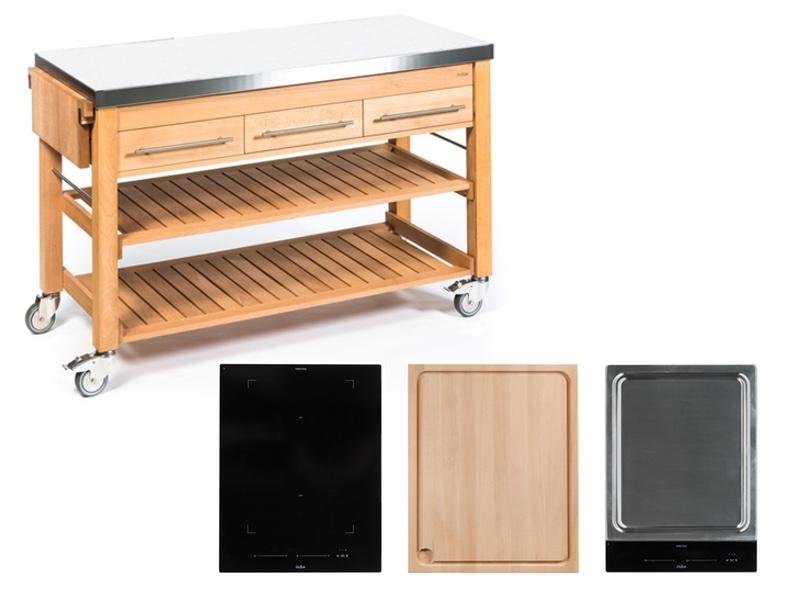 Outdoor Küchenwagen : Outdoor küchenwagen holz großer küchenwagen aus holz kalaydo