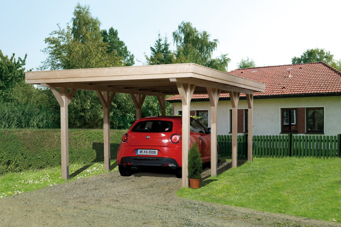 holz carport bausatz weka comfort leimholz einzelcarport. Black Bedroom Furniture Sets. Home Design Ideas