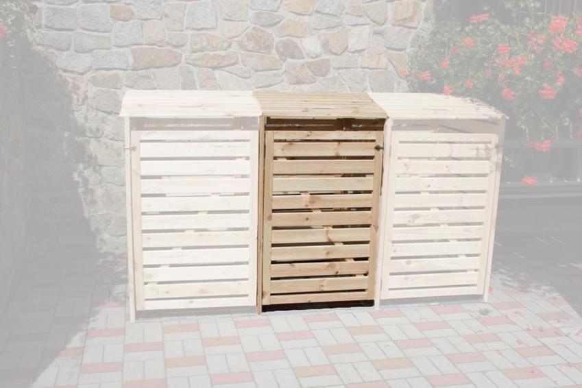 holz sichtschutz promadino vario iii m lltonnenverkleidung erweiterungsbox vom garten. Black Bedroom Furniture Sets. Home Design Ideas