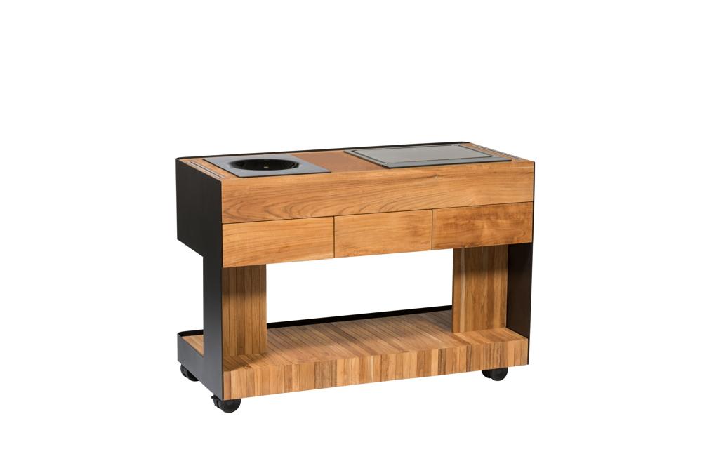 Outdoorküche Möbel Bewertung : Outdoorküche indu «cookboy küchentrolley set mit teppanyaki