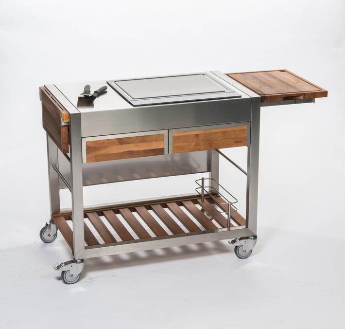 Outdoorküche INDU+ «TomBoy Duo Unico Teakholz» Küchentrolley ...