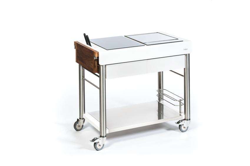 Outdoorküche INDU+ «ServeBoy weiss Duo» Küchentrolley, Gartenküche ...