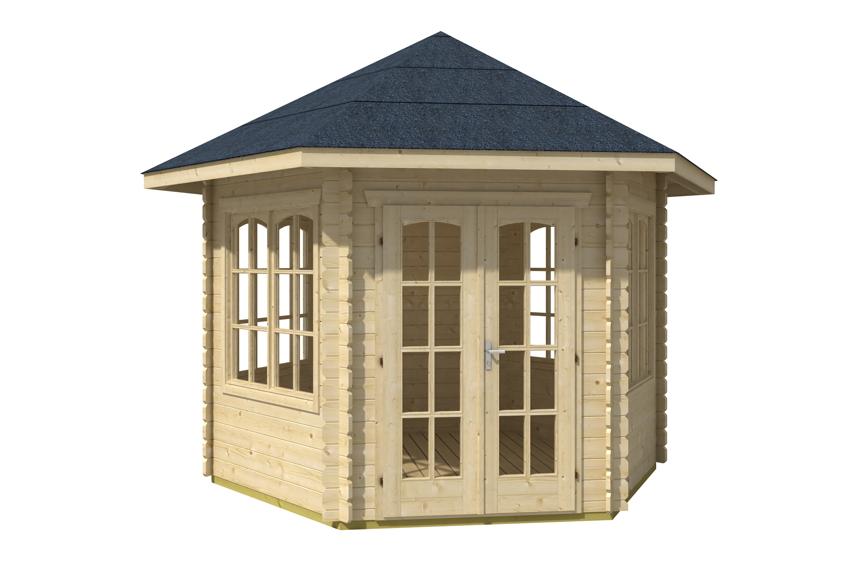 Gut Gartenhaus SKANHOLZ «Madeira» 6-Pavillon | Gartenhaus aus Holz  AV02