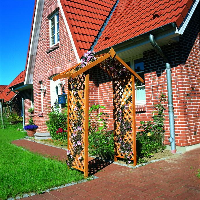 Rosenbogen Holz Kesseldruckimprägniert ~ Pergola Rosenbogen  B 167cm, T 53cm, H 219cm, 19kg Sie erhalten