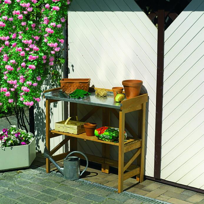 holz-gartnertisch-promadino-pflanztisch-klappbar-metallarbeitsflache-mit-ablage